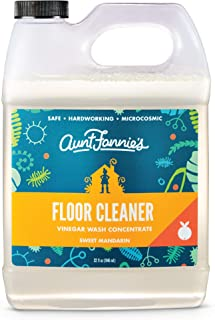 Aunt Fannie's Floor Cleaner Vinegar Wash (32 ounce jug); natural multi-surface floor cleaner (Sweet Mandarin)