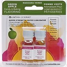 LorAnn Green Apple Super Strength Flavor, 1 dram bottle (.0125 fl oz – 3.7ml) Twin..