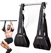 DMoose Fitness Ab Straps - Six Pack Home Gym Exerciser – Double Strap Support and Stitching, Rip-Resistant Fabric, Longer & Thick Arm Padding – Premium Grade Abs Workout Equipment for Men & Women