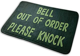 Bell Out Of Order Please Knock Doormat Home Decoration Non-Slip Doormats Indoor/Outdoor/Front Door/Bathroom Entrance Mats Personalized Mat Floor Mat Rug 23.6