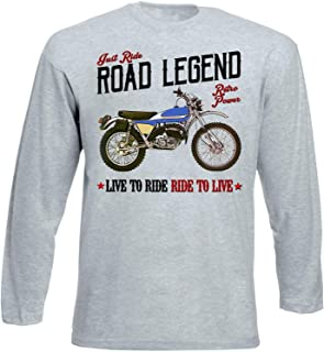Teesandengines Bultaco 250 Alpina Tshirt de Manga Larga Gris para ...