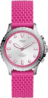 Women's FB-01 Stainless Steel Hybrid Smartwatch, Color: Silver/Pink (Model: FTW5067)