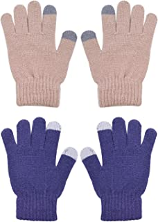 BODY STRENTH Kids Magic Gloves Winter Warm Touch Screen Cashmere 2 Pairs
