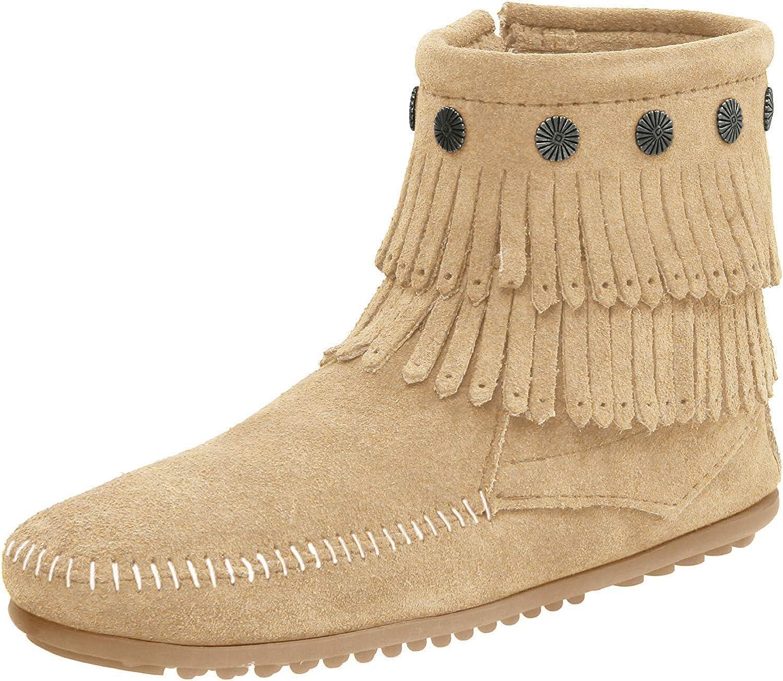 Excellence Chicago Mall Minnetonka Women's Double-Fringe Boot Side-Zip