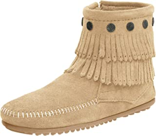 SHOEDEZIGNS I 3228-10 Baby Girls Western Moccasin Ankle Boots Black Tribal