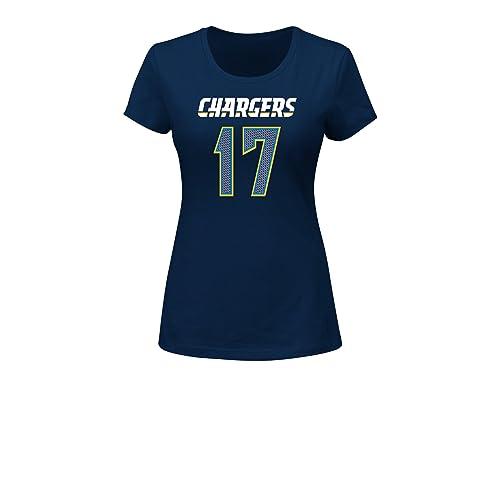 NFL San Diego Chargers Philip Rivers 17 Women s Her Highlight Player  Program Short Sleeve Deep Crew 0bcdd3b78
