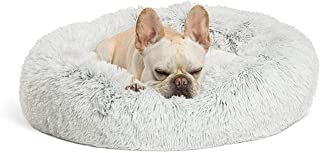 Warm Comfort Round Comfortable Pet Bed, Soft Plush Nest Cushion Donut Cuddler Cat Dog Puppy for Sleeping in Winter