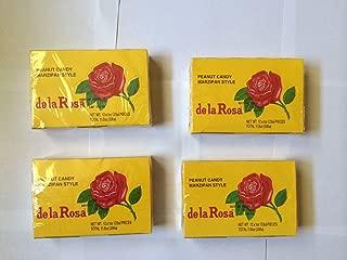 De La Rosa Mazapan, Marzipan Peanut Candy, 4 Small Boxes, 48 Pieces Total, 4 Cajas, 48 Dulces Total