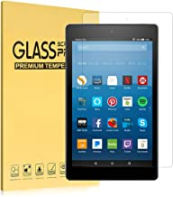 """Fire HD 10 Screen Protector(7th Generation, 2017), iThrough® Tempered Glass Screen Protector Film for All-New Fire HD 10 Tablet with 10.1"""" 1080P, HD Clear Bubble Free 9H Hardness Screen Protector"""