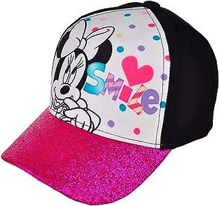 8855fa5b0bb27 New Disney Minnie Mouse Girls Hat Baseball Cap Purple Glitter Smile Fits  5-10