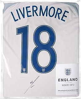 Icons.com Jake Livermore Official England Back Signed 2016-17 Home Shirt