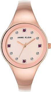 Anne Kleinn Women's Ruby and Diamond-Accent Rose Gold-Tone Bangle Bracelet Watch 34mm AK/2860RURG