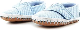 TOMS Baby Blue Ginham Tiny Crib Alpargatas 10007641