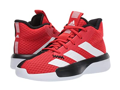 adidas Kids Pro Next Basketball (Big Kid) (Red/White/Black) Kids Shoes