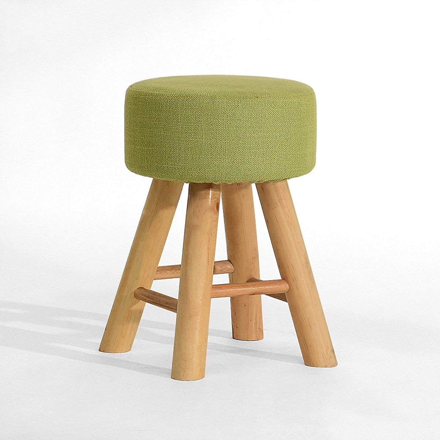 STTS Chair- Bar Stool Solid Wood + Fabric Creative Fashion Household Practical Stool