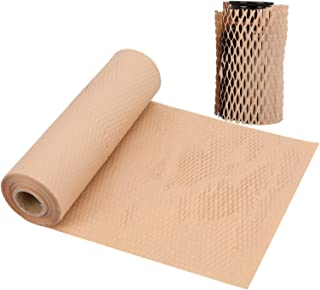 Packaging Paper, 30'' x 158'' Honeycomb Cushioning Wrap, Eco-Friendly Alternative to Bubble, Innovative Packing Kraft Pape...