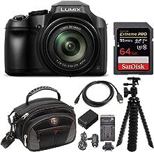 Panasonic LUMIX FZ80 4K Long Zoom Camera (18.1 Megapixels, 60X 20-1200mm Lens) + 64GB Deluxe Accessory Bundle
