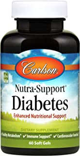 Carlson - Nutra-Support Diabetes, Enhanced Nutritional Support Supplements, Healthy Metabolism, Immune Support, Heart Heal...