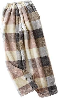 Pants Flannel Thicken Warm Night Lounge Home Pajama Sleep Panties Winter 2020 New Plaid Pyjama Trousers