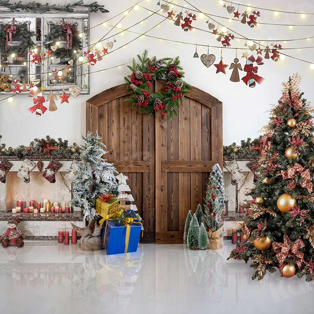 Kate Christmas House Decoration Photo Soft Backdrops Fab Direct stock discount Popular standard 10x10ft