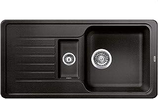 BLANCO Favos 6 S, Küchenspüle aus Silgranit, Anthrazit-schwarz, reversibel / mit 3 1/2 und 1 1/2 Korbventil - ohne Ablauffernbedienung 519075
