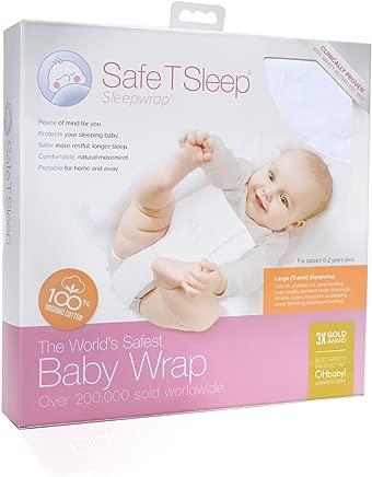 Safe Sleep Sleepwrap Babywrap Swaddle  LARGE TRAVEL Model  Fits  Cot crib Standard King Bed  for Babies Aged Newborn Years Plus