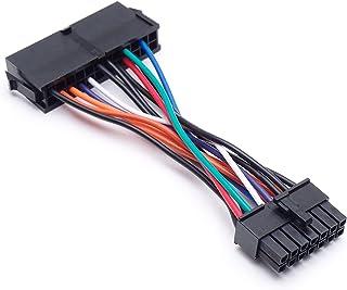 يجب أن يكون لديك أدوات 24 دبوس إلى 14 دبوس PSU رئيسي محول التيار الكهربائي ATX لـ Lenovo IBM