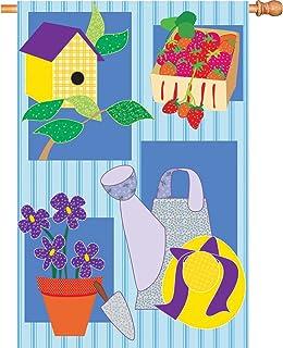 Premier Kites 52154 House Brilliance Flag, Provencale Garden, 28 by 40-Inch