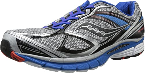 Saucony hombres Guide 7 Running zapatos,plata azul negro,10 M US