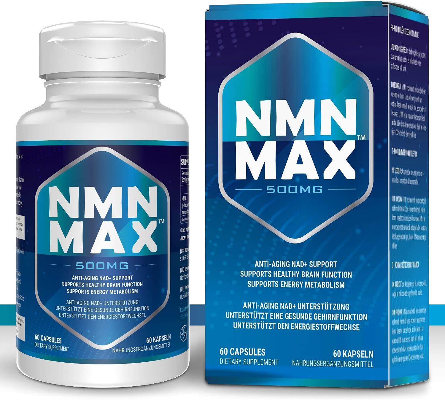 NMN 500mg Capsules Nicotinamide Aging Suppl Anti Opening large wholesale release sale Mononucleotide