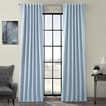 HPD Half Price Drapes BOCH-134308-84 Blackout Curtain, Frosted Blue
