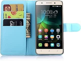 Ycloud Funda Libro para Huawei G Play Mini (Honor 4C), Suave PU Leather Cuero con Flip Cover, Cierre Magnético, Función de Soporte,Billetera Case con Tapa para Tarjetas + 1x Lápiz óptico (Azul)