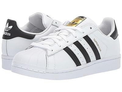 adidas Originals Kids Superstar Foundation (Big Kid) (White/Black/White) Kids Shoes