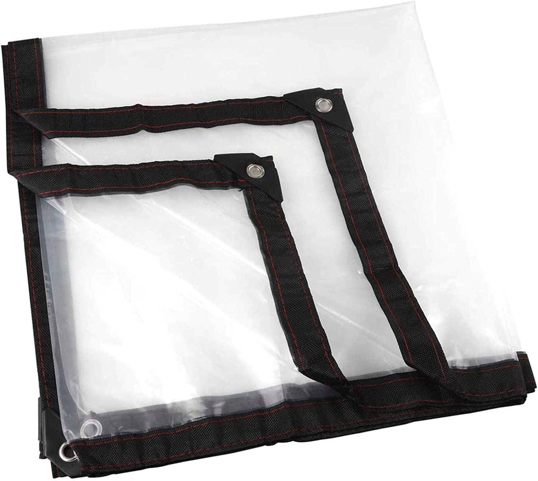 QIAOH Tarp Heavy Duty Waterproof Clear Tarpaulin Max safety 76% OFF Sheet 7x13ft