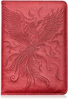 Phoenix Writing Journal by SohoSpark, Refillable Faux Leather, Lined Personal Diary for Travel, 6x8.75 Notebook for Writer...