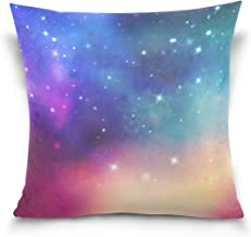 """MASSIKOA Space Galaxy Nebula Starry Decorative Throw Pillow Case Square Cushion Cover 20"""" x 20"""" for Couch, Bed, Sofa or Pa..."""
