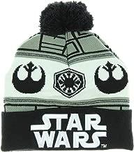 Star Wars 7 Embossed Logo Vs. Fairisle Cuff Knit Pom Beanie