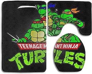 Ninja Turtles 3 PCs Mat Set Toilet Rugs Non-Slip Bathroom Carpets Home Decor