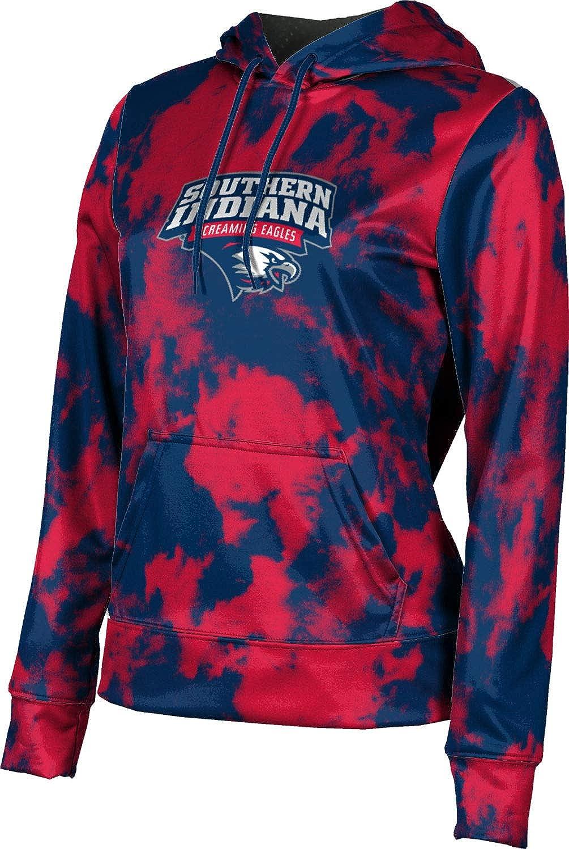 University of Southern Indiana Girls' Pullover Hoodie, School Spirit Sweatshirt (Grunge)