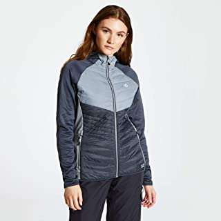Dare2B Women's Nominate Alpaca Wool Insulated Quick Wicking Core Stretch Hooded Hybrid Outdoor Active Jacket