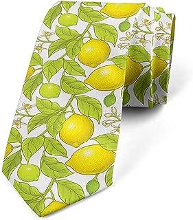 Corbata, ramas y flores de limón, amarillo manzana verde: Amazon ...