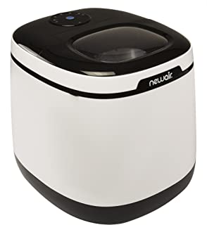 NewAir Portable Ice Maker 50 lb. Daily, Countertop Modern Design, Bullet Shaped Ice, AI-250W, Black & White (Renewed)