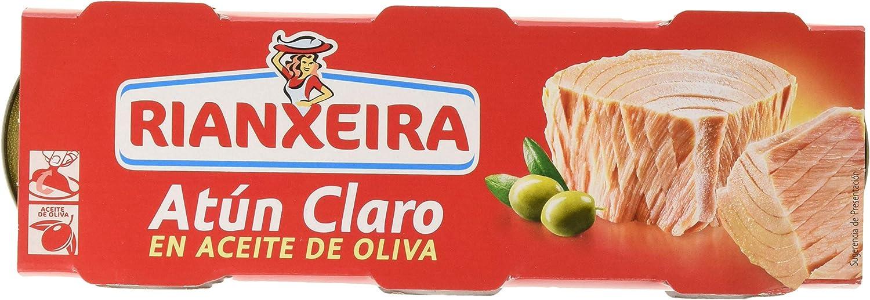 Rianxeira, Conserva de atún claro en aceite de oliva - 18 latas de 80 gr. (Total: 1440 gr.)