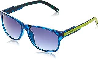 Fastrack Sundowner UV Protected Wayfarer Unisex Sunglasses - (P328BU1|57|Blue lens)