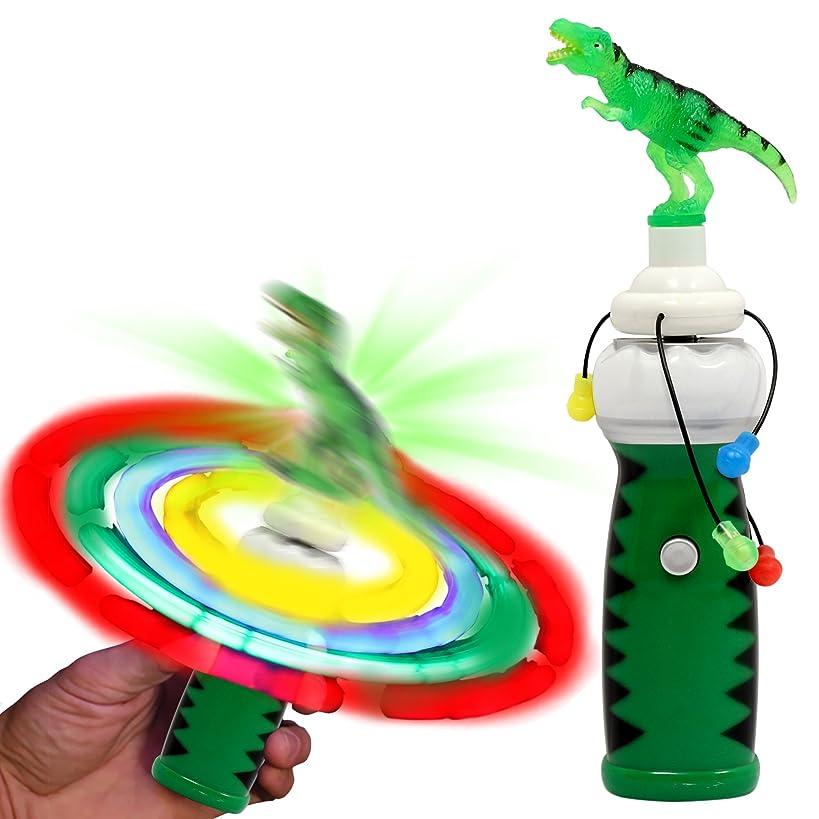 Windy City Novelties LED Light Up Dinosaur Spinner Toy for Kids