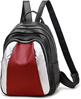 Backpack Purse for Women Muliti-color Soft Leather Shoulder Bag Cute Mini Backpack for Girls