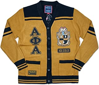 Alpha Phi Alpha Fraternity Mens New Wool Sweater Gold