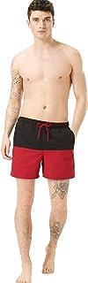 Marks & Spencer Men's Colour Block Swim Shorts, Red Mix