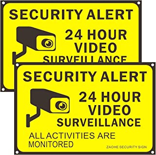 Zaohe 2-Pack Security Signs Wall Fence Hanging Sign 8