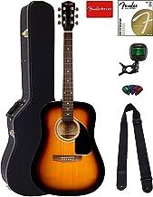 Fender FA-115 Dreadnought Acoustic Guitar Bundle with Hard Case, Tuner, Strings, Strap, and Picks - Sunburst